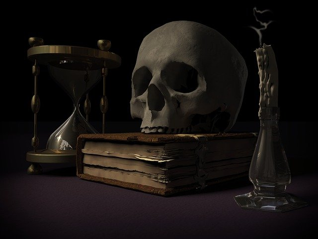 mortality, skull and crossbones, vanitas